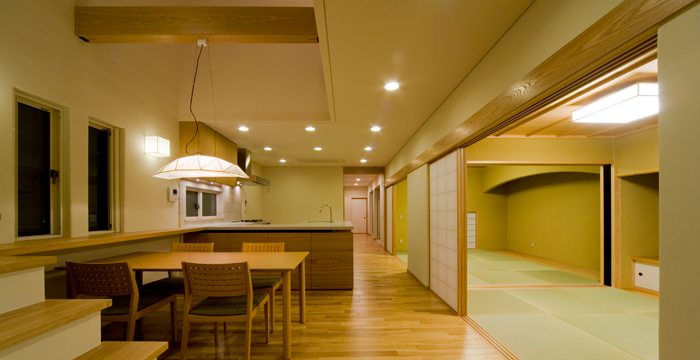 完全自由設計施工 ALLの高級注文住宅 CASE 03 うなぎの寝床を活かす