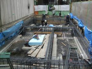 基礎鉄筋組立て工事